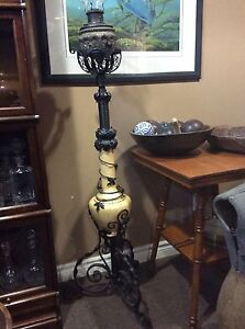 Antique piano oil lamp