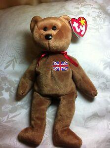 Ty Beanie Baby Britannia Royal Girl Bear - 15 December 1997  UK Exclusive RARE