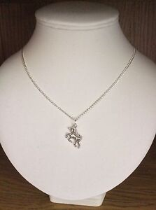Childrens Girls Unicorn Silver Plated Necklace With Free Gift Bag 16 Inch Chain