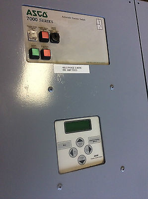 Asco 7000 Series Automatic Transfer Switch 260 Amps - E7atsa3260n5x - 52530 -