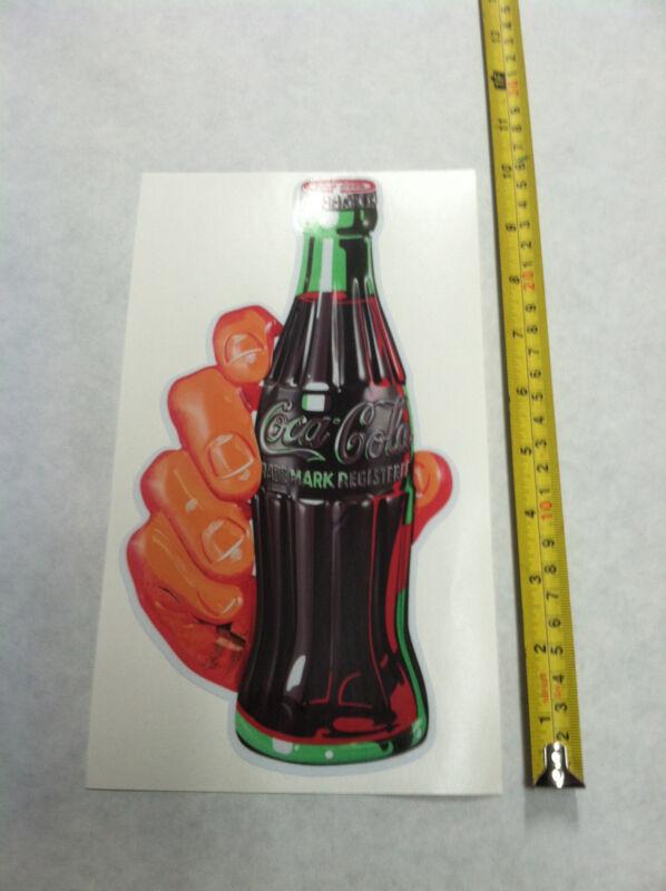 COCA COLA POP COLA DECAL SODA HAND STICKER 10 INCH