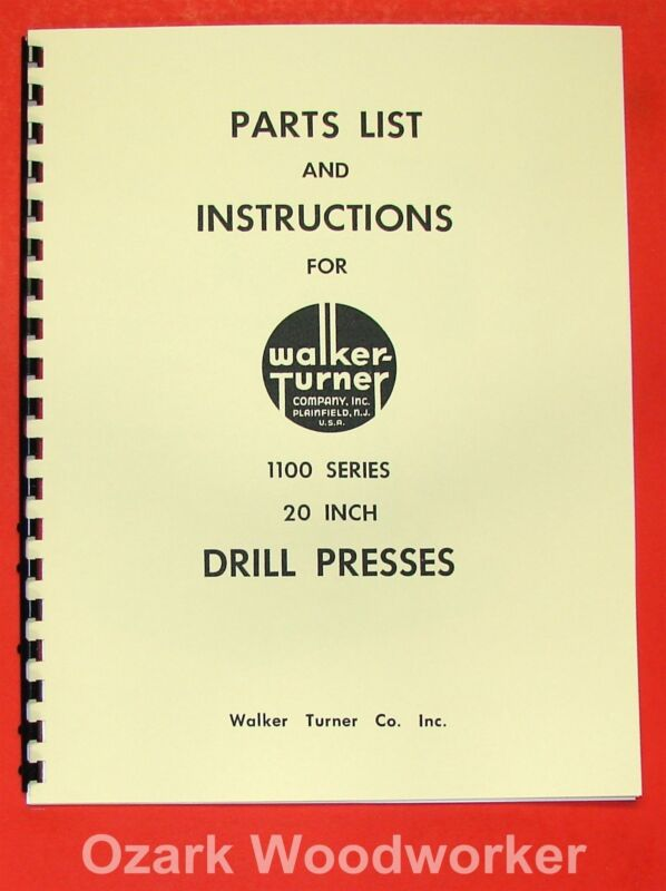 "WALKER TURNER 1100 Series 20"" Drill Press Operator"