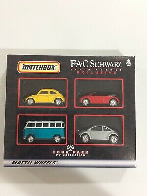 MATCHBOX F A O SCHWARZ EXCLUSIVE FOUR PACK VW COLLECTION