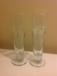 Set of  2 MOLSON CANADIAN 67 BEER Glasses 35 CL (350 ML)
