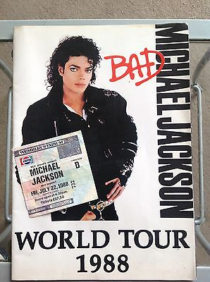 Michael Jackson BAD Tour Programme With Wembley Ticket 1988 Very Rare