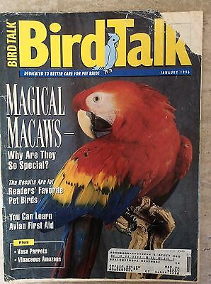 Bird Talk Magazine January 1996 Dedicated to Better Care for Pet Birds
