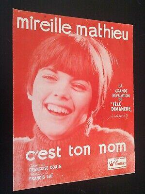 Ancienne partition Musicale Mireille Mathieu