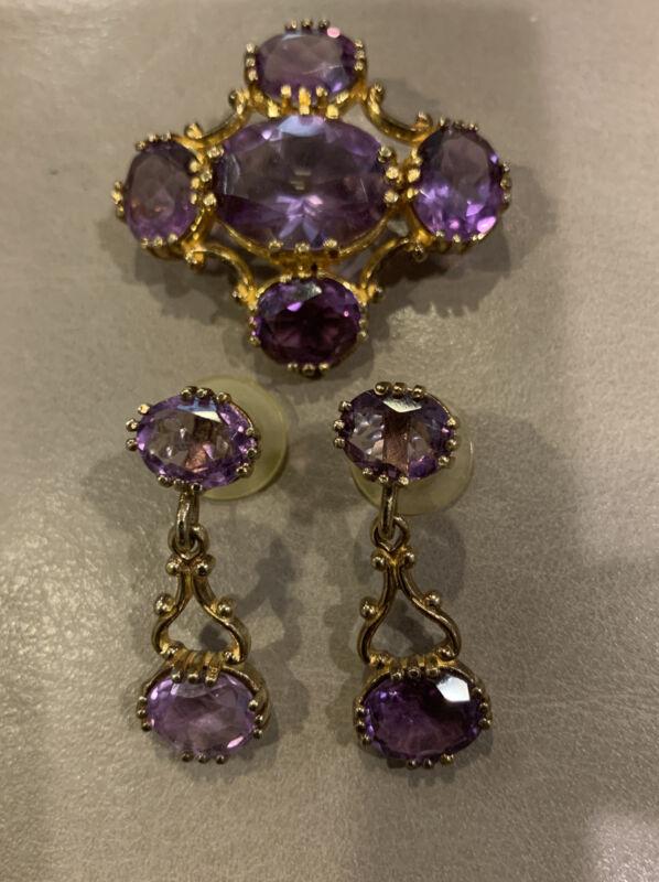 """Vintage""""MFA""""Museum of Fine Art Boston Brooch & Sterling Dangle Earrings Signed"""