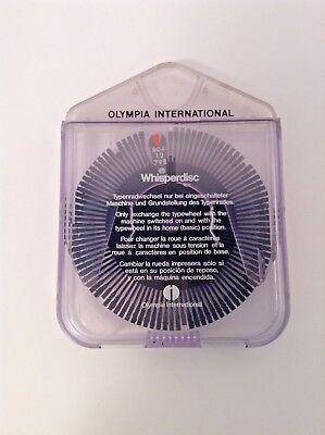 Olympia International Original Typewheel Typewriter Whisper Disc 804 12 798 08