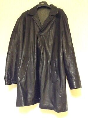 VINTAGE WOODHOUSE LONDON MENS BLACK  LEATHER JACKET (LARGE)