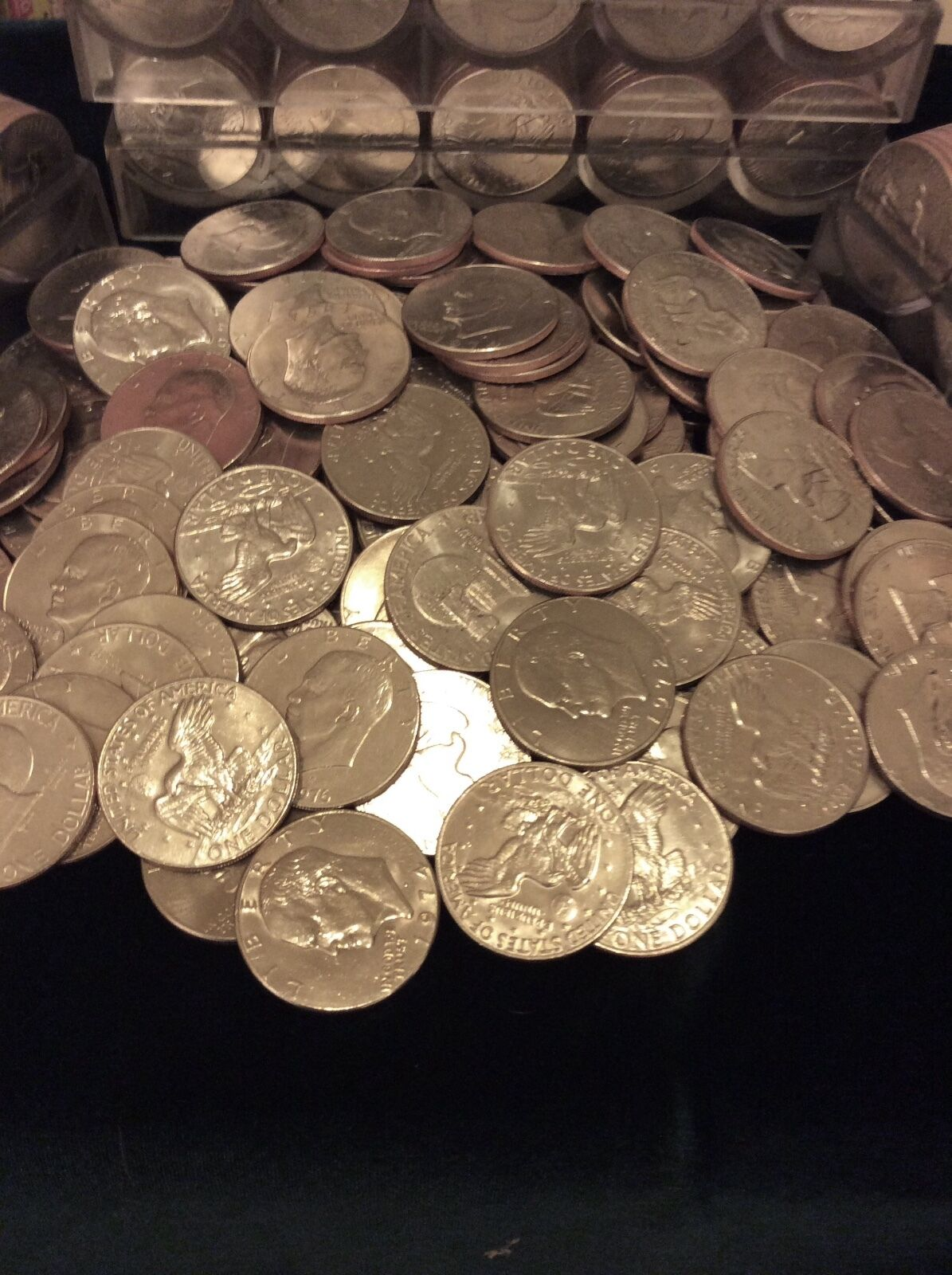 FREE COIN TUBES EACH LOT 100 EISENHOWER (IKE) DOLLARs circulated