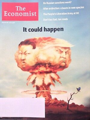 The Economist Magazine Donald Trump & Kim Jung un August 5-11, 2017 101717nonrh
