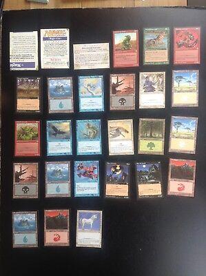 Lot de cartes Magic Deckmaster TBE