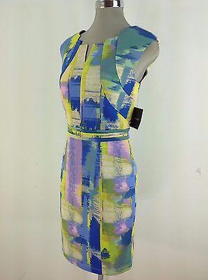 Ellen Tracy Nwt Fabulous Multi Color Womens Dress Size 2  4  14  16
