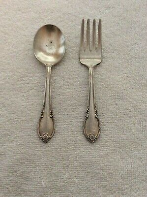 Remembrance Pattern by 1847 Rogers Silver-Plate Set of 4 Teaspoons 1940/'s