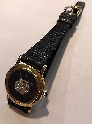 Corum -Lady's Swiss, 18 Karat Yellow Gold- Diamond Pave Watch