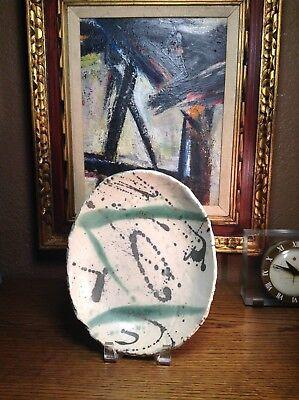 Mid Century Modern Abstract Studio Pottery Bowl