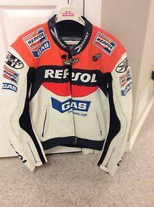 Joe Rocket Repsol motorcycle leather jacket
