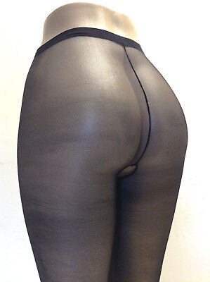 Music Legs 800 Women Pantyhose Sheer Crotch-less One Size Reg or XL Queen (Crotchless Sheer)