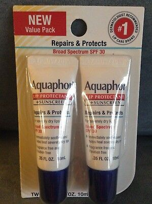 AQUAPHOR LIP REPAIR IMMEDIATE RELIEF BALM FOR SEVERELY DRY LIPS .35 FL OZ - 2 PK
