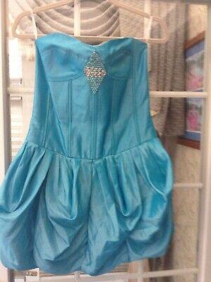 SIZE 9 JESSICA McCLINTOCK AQUA BLUE DRESS