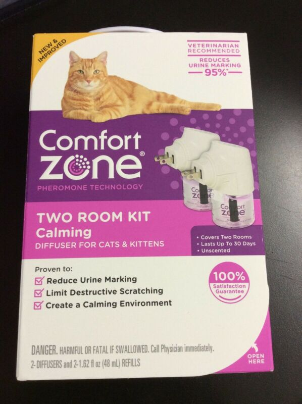 Comfort Zone Two Room Kit Calming Diffuser For Cats & Kittens #1953
