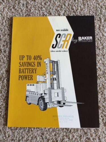 1960s baker, fork lift  original factory printed sales literature,