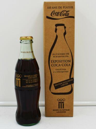 *95 Olympic Museum Lausanne Switzerland Coca Cola Bottle w Box Expo Foucqueteau