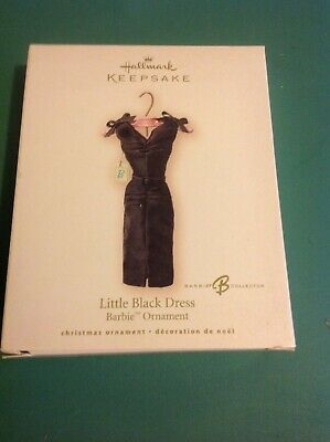 Hallmark Barbie Christmas Keepsake Ornament Little Black Dress 2007 New in Box