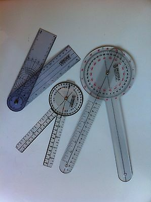 Prestige Medical Protractor Goniometer 3 Piece Set 12 8 8 Spinal