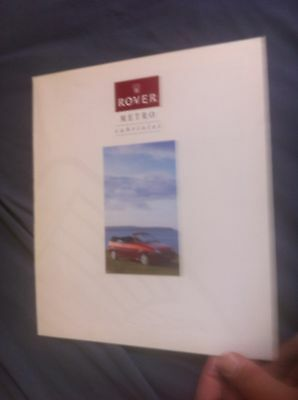 1992 Austin Rover Metro Convertibler Color Original Brochure Prospekt