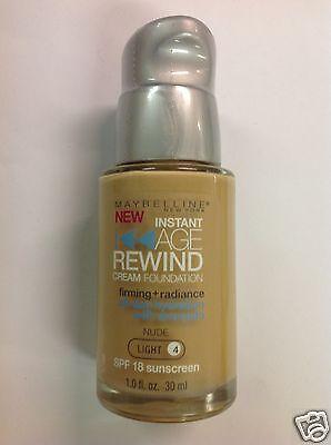 Maybelline Instant Age Rewind Foundation NUDE (LIGHT-4) Silver Pump Cap (Foundation Silver Light)