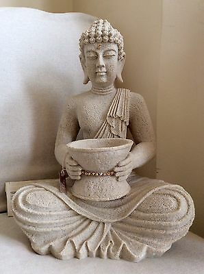 Very Large Thai Buddhas Statue. Sparkling In CALORADO TOPAZ Swarovski Elements