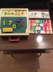 Vintage Fisher Price Play Desk Strathcona County Edmonton Area image 1