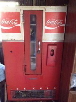 1960s Antique Coke Refrigerator