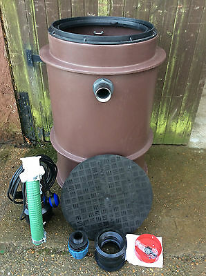 SINGLE PUMP STORM SEWAGE PACKAGED PUMPING STATION WASTE WATER FOUL TANK MINI PPS