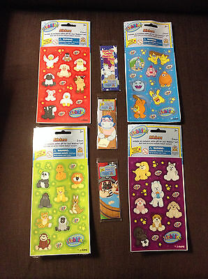 Webkinz lot of Stickers and Bookmarks with feature codes
