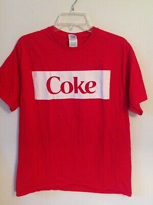 Retro Coca-Cola COKE L logo t-shirt Keith Richards cocaine Eric Clapton