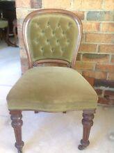 Antique Button Back Wooden Chair Frankston South Frankston Area Preview