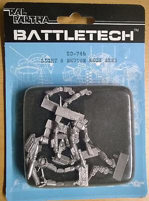Ral Partha Battletech 20-746 Light & Medium Mech Arms (Mint, Sealed) *Unseen*