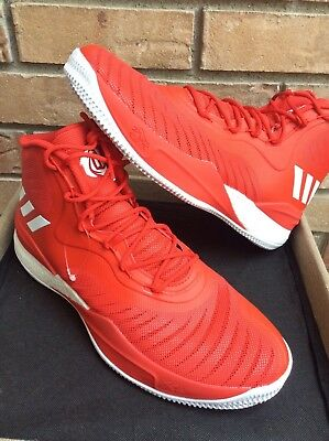 eff67bd34a36 Adidas D Rose mens basketball shoes size 13 Red white CQ1625