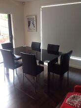 7pcs MODERN Black Glass Dinning Table + 6 PU Leather Chair Set Cherrybrook Hornsby Area Preview