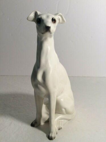 Vintage Porcelain Greyhound Dog Figurine  Hand Painted