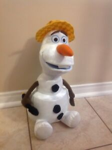 "Disney's Frozen Sing & Swing Olaf 18"" Talking Dancing Plush Toy"