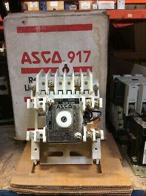 Asco 917-22031-120 Contactor 110120 Volts 2 Pole 20