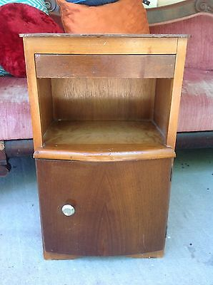 Vintage antique Art Deco Waterfall  Nightstand chest or End Table with drawer