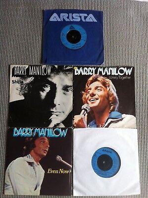 "BARRY MANILOW 5 x JOB LOT 7"" RARE UK Vinyl Records"
