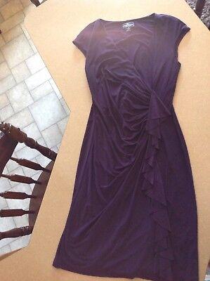 **Women's Dark Purple Dress Size 8** Great Color for Fall!!!