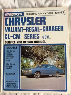 Gregory's Chrysler,valiant,regal and charger service repair manual Australind Harvey Area Preview