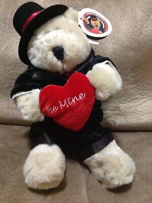 2002 Starbucks 18th Edition Bearista Bear Valentine Top Hat Tux Be Mine Tag (Valentines Tag Hat)